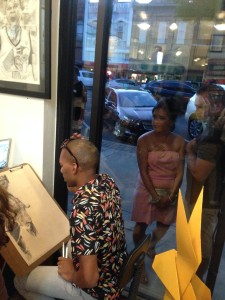 Brendon Williams live drawing!