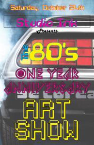 80s anniv party flyer